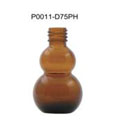 Standard Brown Amber Glass Pharmacy Pill bottle With Shining Black Cap