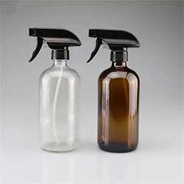 2 oz black boston round glass dropper bottle with glass graduated pipette for medical reagent