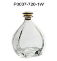 High quality long neck black 720ml glass wine bottle dimensions
