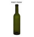 Empty 750ml glass bottle boston round stocked wine bottle for sale