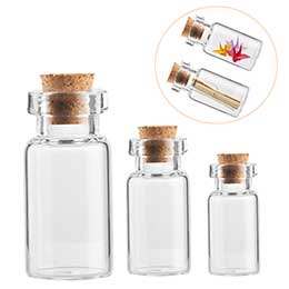8ml Clear Cork Glass Vial
